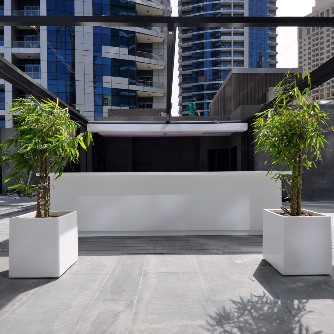 Solid Surface for Outdoor Space